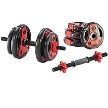 adidas - Set de pesas color negro y rojo