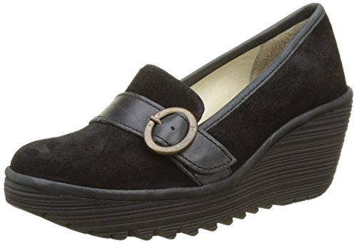 Fly Londra Damen Yond771fly Pumps Schwarz (nero)