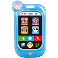 JEJA Baby Toddler Early Education Learning Tiny Touch Smartphone Musical Sound Telephone Juguetes para niños y niñas, Azul