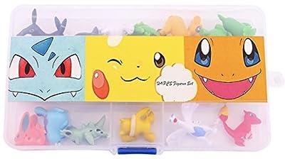 24 piezas de figuras pokemon (2-3 cm) en una caja de almacenamiento por Fas&Faz