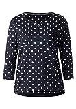 CECIL Damen Langarmshirt 312614 Joanna, Mehrfarbig (Deep Blue 20128), XX-Large (Herstellergröße: XXL)