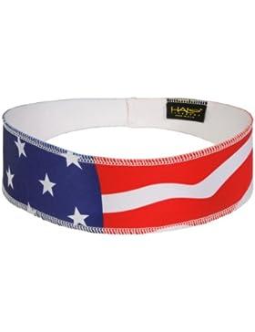 Halo II Headband Pullover- Banda para la cabeza Contra El Sudor, Unisex, USA flag