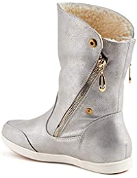 47232a5e828ab5 Suchergebnis auf Amazon.de für  flache stiefel - Silber   Stiefel ...