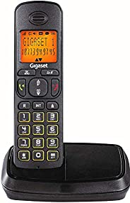 Gigaset A500 Cordless Phone with 6 Hr Talk Time, 140 Hr Standby, 50M Indoor-300M Outdoor Range, 80 Contact Sto