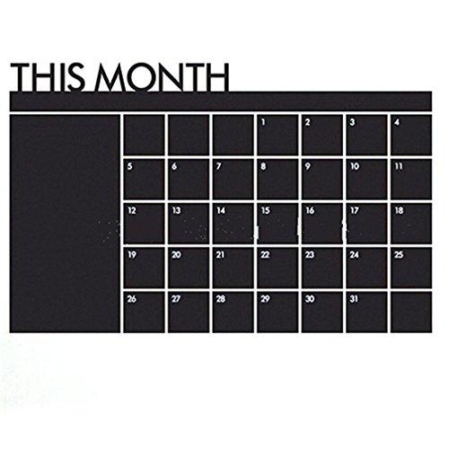 tianfuheng Kreidetafel Kalender 2018| Wand Aufkleber Aufkleber–Monatsplaner Tafel Organizer Agenda Memo Einheitsgröße siehe abbildung (Organizer Kalender-wand)