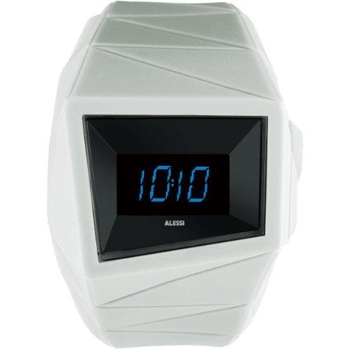 Alessi - AL22004 - Montre Mixte - Quartz Digital - Bracelet Plastique Blanc