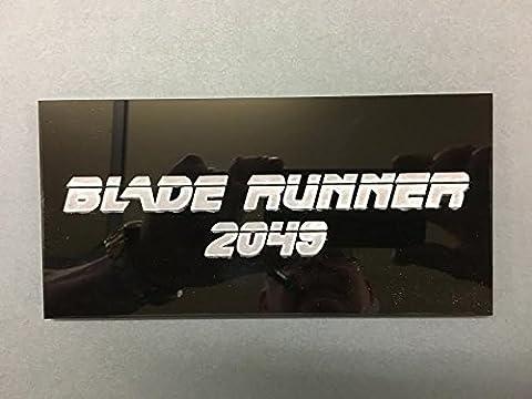 Blade Runner 2049. Schwarz Acryl Wandschild Schild kommenden Version in der neue Film durch für in 2017