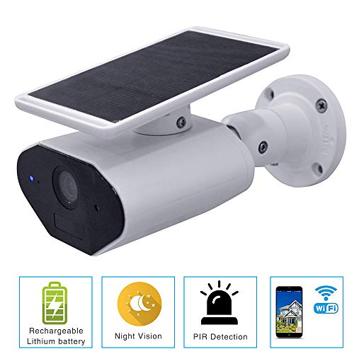 WLAN Überwachungskamera Solarpanel Wiederaufladbar Batterie kabellose WiFi IP Camera 1080P Wasserdichte Outdoor Motion IR Night-Version, Zwei-Wege-Audio, Fernbedienung über Smartphone/Tablet/PC - Motion Tablet
