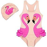 YiZYiF Traje de Baño De impresión Bañador Traje de Una Pieza con Gorro para Niña Bikini de Vacaciones de Verano