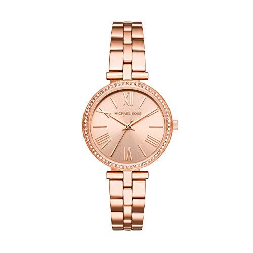 Michael Kors Damen Analog Quarz Uhr mit Edelstahl Armband MK3904