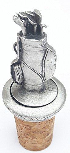 Golf Tasche handgefertigt aus Englisch Zinn Flasche Stopper + giftbag (Handgefertigte Flasche)