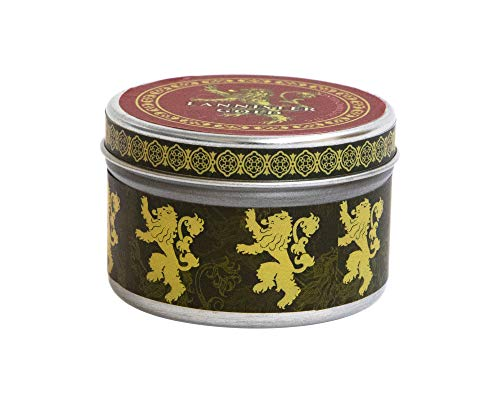 Game of Thrones: House Lannister Scented Candle: 5.6 oz: Large, Cinnamon (Scented Tin Candle Lg Cinnamon) por Insight Editions