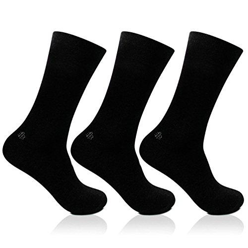 Bonjour-Odour-free-plain-Socks-for-Men-with-brand-logo-Pack-of-3-PairsBRO201D-PO3