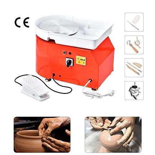 hukoer 25 cm macchina per rotella di ceramica strumento per argilla artigianale fai da te per lavori in ceramica con kit di attrezzi