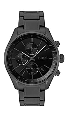 Hugo Boss Mens Chronograph Quartz Watch with Stainless Steel Strap 1513676