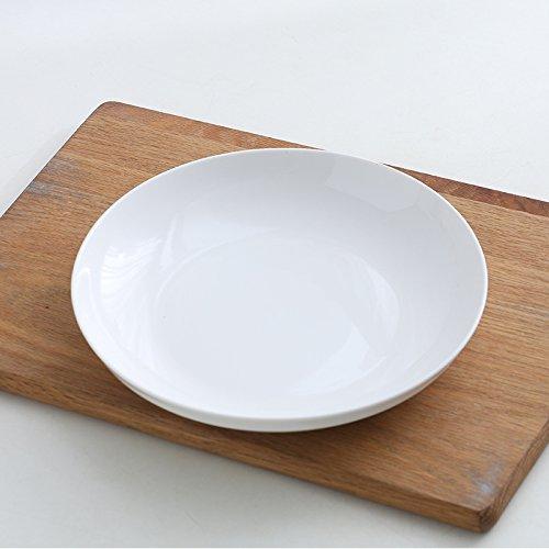 YUWANW 8 Zoll Dish Dish, Keramikplatte, Gericht, Haushalt Teller, Runder Teller, Suppenteller, Reis Fach, Quadratische Schale,8 Zoll Runde Flache Scheibe [Weiß] -