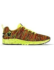 cf5df6903b1 Gorilla Wear Brooklyn Tricoté Baskets - Fluo Mélange - Musculation et  Chaussures de Fitness pour Hommes