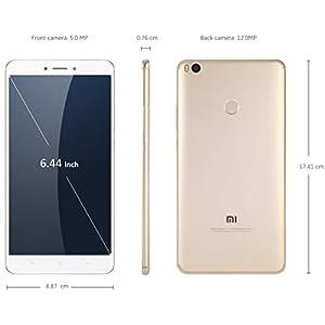 "Xiaomi Mi MAX 2 Dual Sim 4GB 64GB Oro/Blanco 12MP 6.44"" 4g"