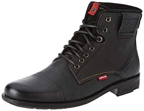 Levi's Herren Fowler Biker Boots, Schwarz 59, 44 EU