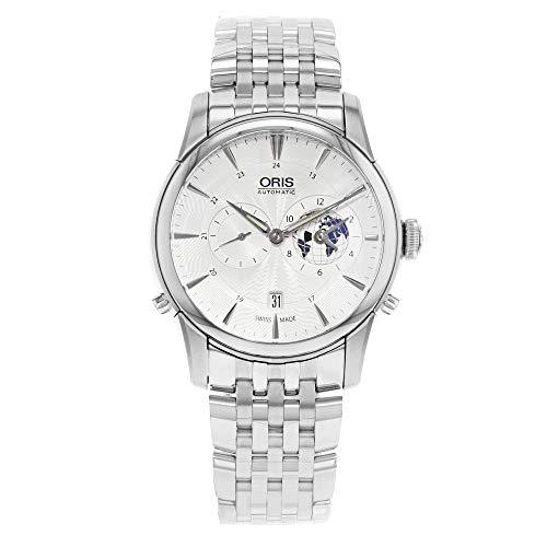 Artelier Oris GMT-Orologio in acciaio INOX, colore: argento/bianco 690-7690-4081MB Orologio da uomo
