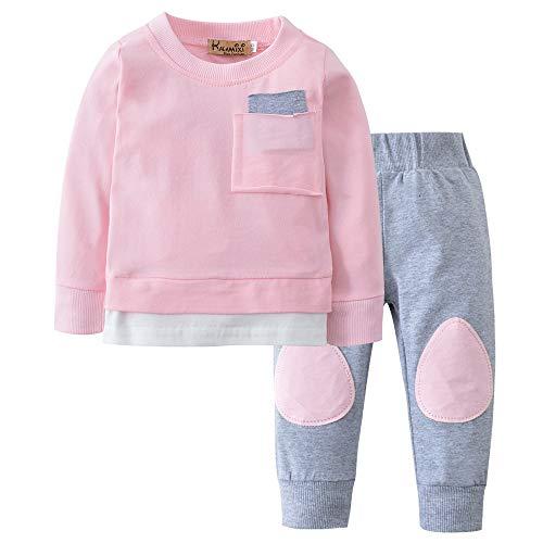 Babykleidung Satz, LANSKIRT Herbst Neugeborenes Baby Jungen Mädchen T-shirt Tops + Hosen 2 STÜCKE Outfits Kleidung Set 0-24 Monate