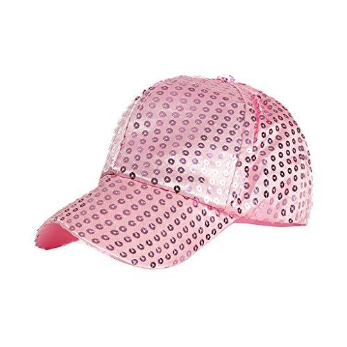EERTX - ♛♛ Freien hochwertige Pailletten Farbe Baseballmützen einstellbar Hut Baseball Cap Wooly Combed - Unisex Kappe ohne Verschluss für Herren, Damen und Kinder