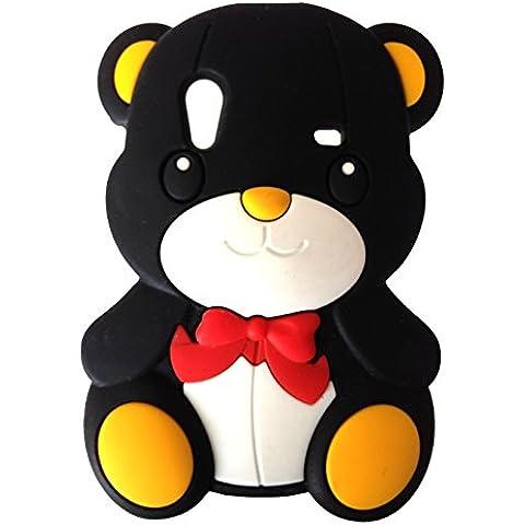 SKS Distribution® nero Bow Orso Bear Custodia in silicone / Cover / Case per Samsung Galaxy Ace