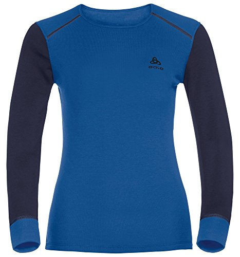 Odlo Damen Shirt L/S Crew Neck Warm Unterhemden Lg.Arm Da lapis blue - peacoat