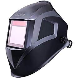 Casque de soudage,Tacklife PAH03D avec classe optique: 1/1/1/1,zone de vision élargie(100*73mm) Gamme d'ombre complète4/4-8/9-13/pour plus des modes(TIG MIG MAG etc)/en polyamide résistant aux chocs