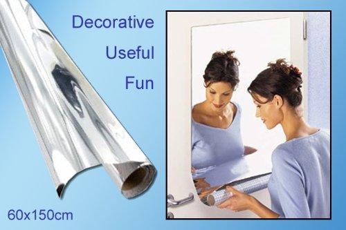 Spiegelfolie selbstklebend FR 60 x 150 cm sowirken Räume schnell viel heller und großzügiger