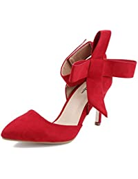 AgeeMi Shoes Mujer Puntera EN Punta Stilettos Fiestas de Salón con Tie Zapatos Fiesta Mujer