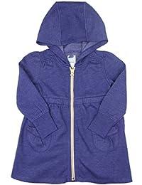 Fille Fermeture Éclair à capuche Pull-over Veste Cardigan Gris ou bleu 12-18 MOIS pour 5 ANS Ex Store