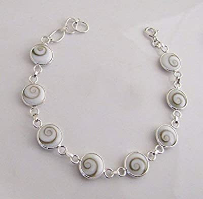 Bracelet Œils de Sainte Lucie Argent. Bijoux de Mer
