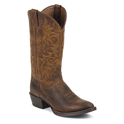 Justin Boots 2561 Hommes Large Cuir Santiags Rugged Tan