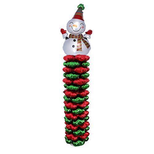 NUOBESTY spalte Luftballons Set weihnachtsballon Turm aluminiumfolie Helium Mylar Ballon Ornament für Weihnachten Urlaub Geburtstag Hochzeit ereignis Partei liefert (schneemann) -
