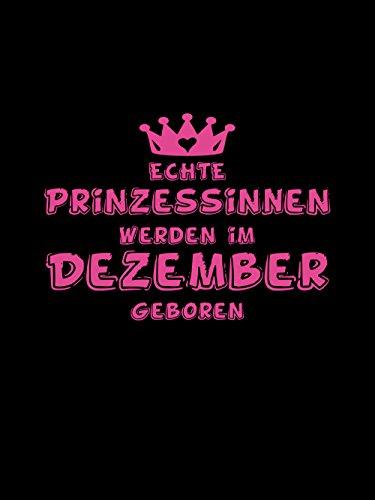 clothinx Damen T-Shirt Prinzessinnen werden im Dezember geboren Schwarz