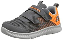 Skechers Boy's Comfy Flex 2.0 Trainers, Grey (Charcoal Textile/Orange Trim Ccor), 4 Child UK (21 EU)