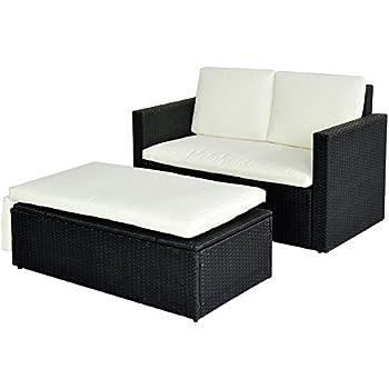 Rattan lounge schwarz  Amazon.de: POLY RATTAN Lounge Gartenset Sofa Garnitur Polyrattan ...