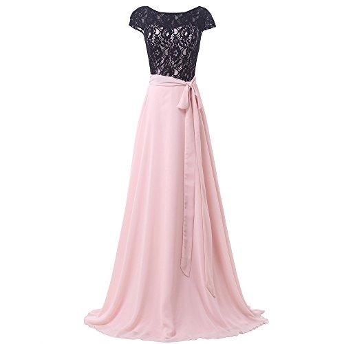 Bridal_Mall - Robe - Trapèze - Sans Manche - Femme Rose clair