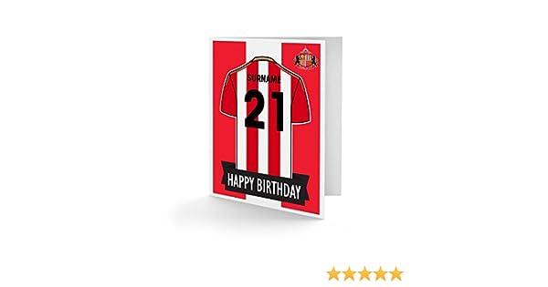 Football Gift For SUNDERLAND Fan Official PERSONALISED Sunderland Birthday Card