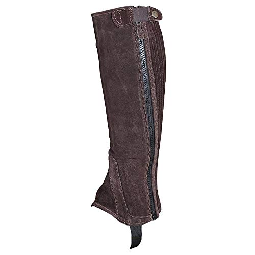 Shires Moretta Childs Suede Half Chaps X Large Brown Childs Suede Half Chaps