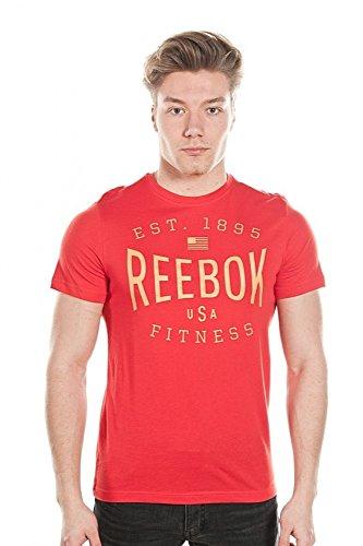 Reebok Herren T-Shirt USA Brand Graphic T-Shirt, XL, Rot (Motred) (Shirt Reebok Rot)