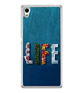 Life 2D Hard Polycarbonate Designer Back Case Cover for Sony Xperia Z4