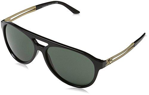 Versace Herren 0VE4312 GB1/71 60 Sonnenbrille, Schwarz (Black/Graygreen),