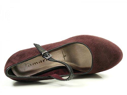 Tamaris 24408, Scarpe con Tacco Donna Rosso (Berry/black)