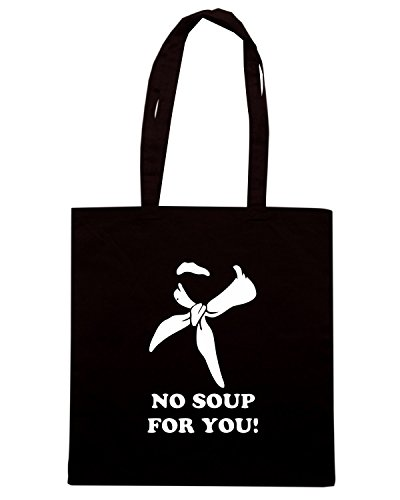 T-Shirtshock - Borsa Shopping OLDENG00599 no soup for you Nero