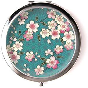 Taschenspiegel mit cabochon ° Kirschblumen °