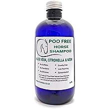 Poo Free 100% Natural - CHAMPÚ para Caballos - con Aloe Vera, CITRONELA &