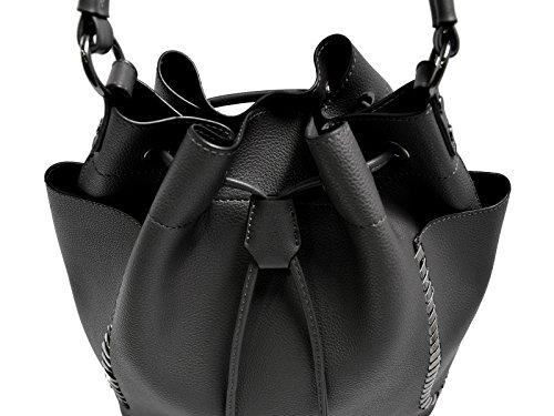 eedd238881b1ed CRAZYCHIC - Damen Hobo Beuteltasche mit Taschen und Ketten - Mode Eimer  Tasche - Leder imitat ...