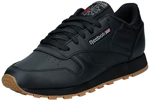 Reebok Classic Leather Zapatillas, Mujer, Negro Int / Black / Gum, 41 EU